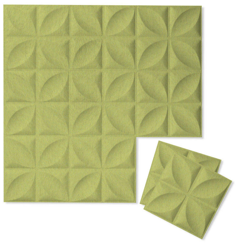 Felt 3D Wall Flats - Acoustic Panels - Chrysalis 3D Wool Felt Wall Flats - 12 - Inhabit
