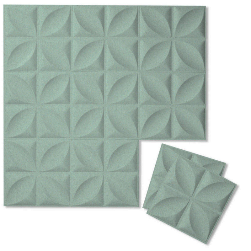 Felt 3D Wall Flats - Acoustic Panels - Chrysalis 3D Wool Felt Wall Flats - 10 - Inhabit