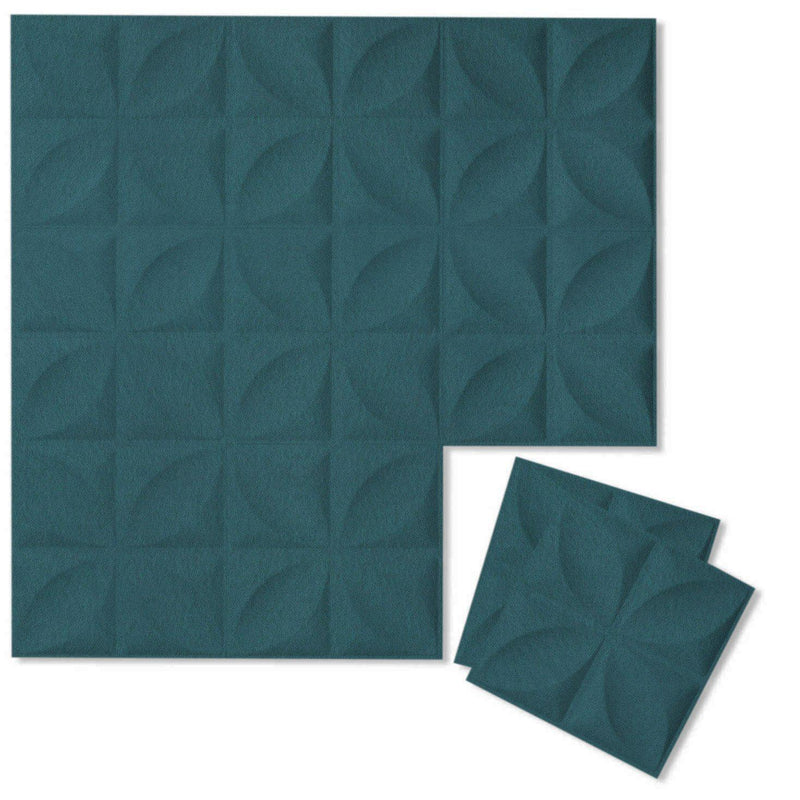 Felt 3D Wall Flats - Acoustic Panels - Chrysalis 3D Wool Felt Wall Flats - 14 - Inhabit