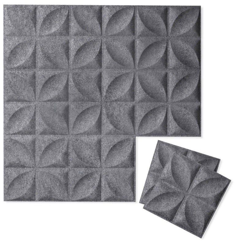 Felt 3D Wall Flats - Acoustic Panels - Chrysalis 3D Wool Felt Wall Flats - 3 - Inhabit