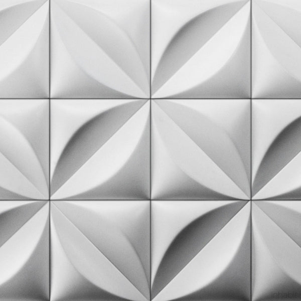 Cast Concrete Tiles - Chrysalis Cast Architectural Concrete Tile - White - 2 - Inhabit