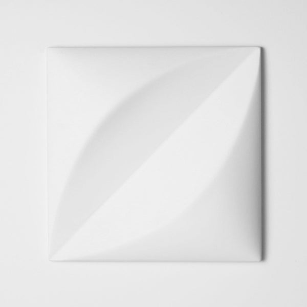 Cast Concrete Tiles - Chrysalis Cast Architectural Concrete Tile - White - 1 - Inhabit