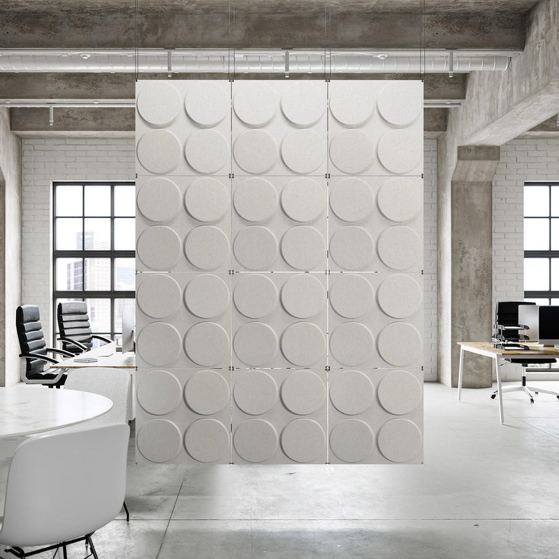 Acoustic Hanging Wall Panel | Room Divider - Cirque 3D PET Felt Hanging Wall Flat System - 12 - Inhabit