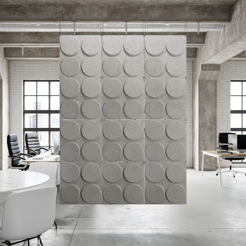 Acoustic Hanging Wall Panel | Room Divider - Cirque 3D PET Felt Hanging Wall Flat System - 1 - Inhabit