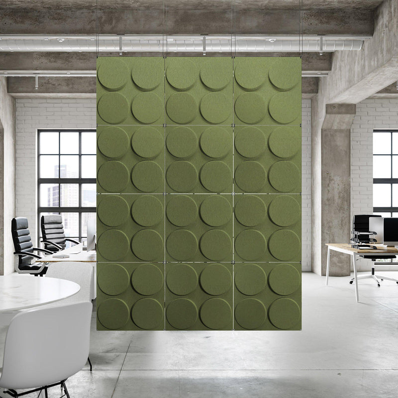 Acoustic Hanging Wall Panel | Room Divider - Cirque 3D PET Felt Hanging Wall Flat System - 10 - Inhabit