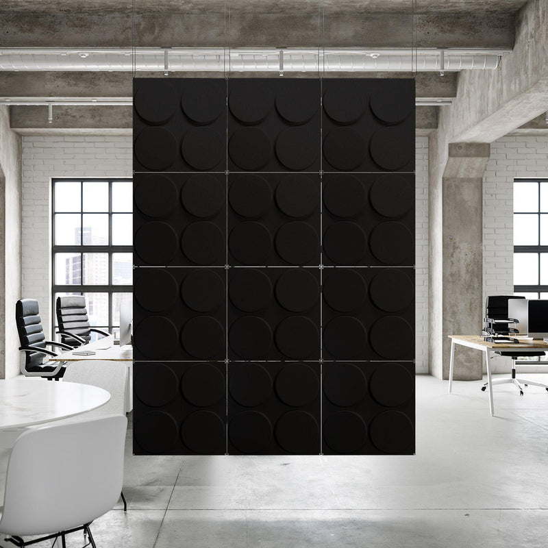 Acoustic Hanging Wall Panel | Room Divider - Cirque 3D PET Felt Hanging Wall Flat System - 13 - Inhabit