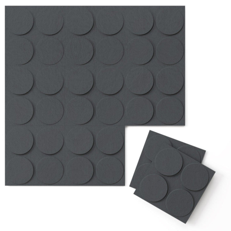 Felt 3D Wall Flats - Acoustic Panels - Cirque 3D Wool Felt Wall Flats - 5 - Inhabit