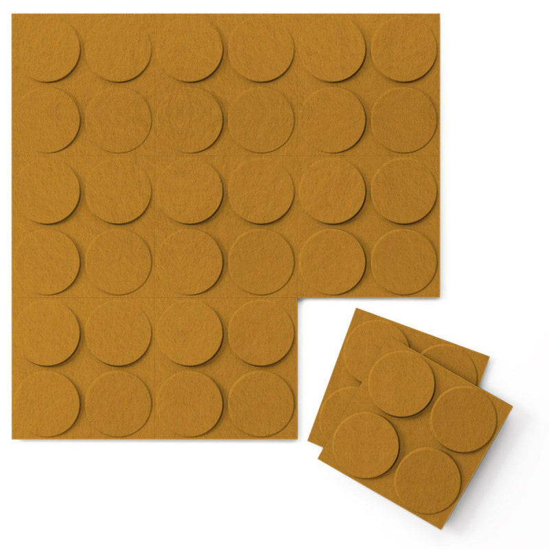 Felt 3D Wall Flats - Acoustic Panels - Cirque 3D Wool Felt Wall Flats - 8 - Inhabit