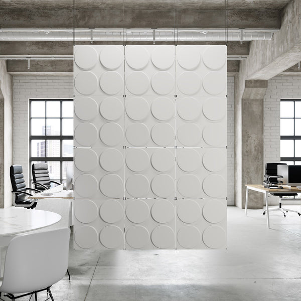 Hanging Wall Flat Systems - Cirque Paintable Hanging Wall Flat System - 3D Wall Panels - 1 - Inhabit