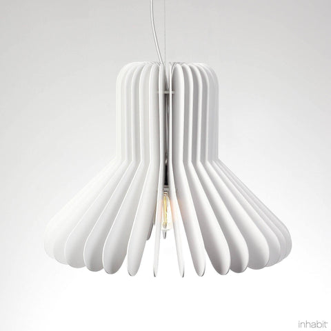Finley White Sculptural Pendant Light