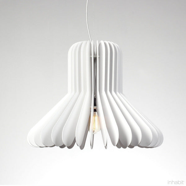 Cohen White Sculptural Pendant Light - Corrulight Ceiling Lighting - 1 - Inhabit