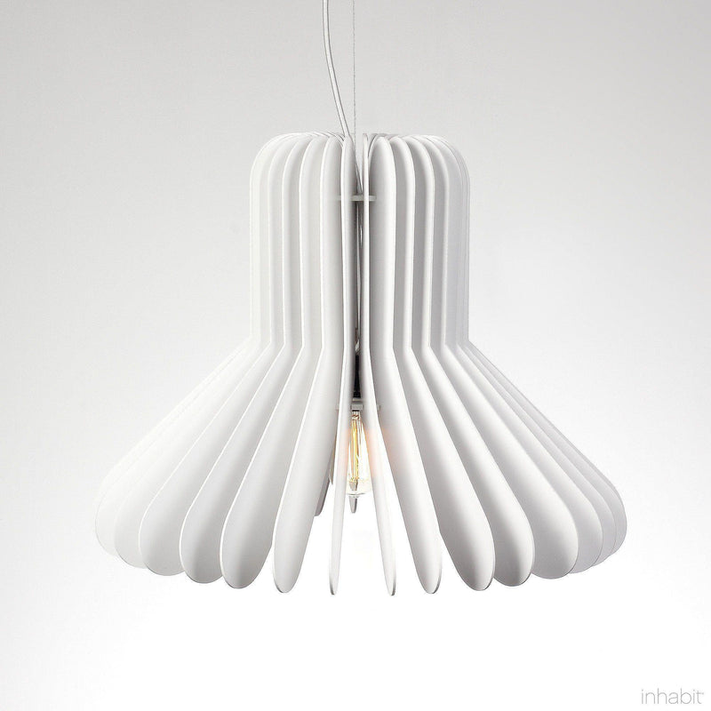 Cohen White Sculptural Pendant Light - Corrulight Ceiling Lighting - 6 - Inhabit
