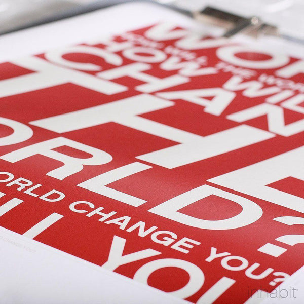 Change the World in Scarlet Print - - Art Prints - Inhabitliving.com - Inhabit - 2