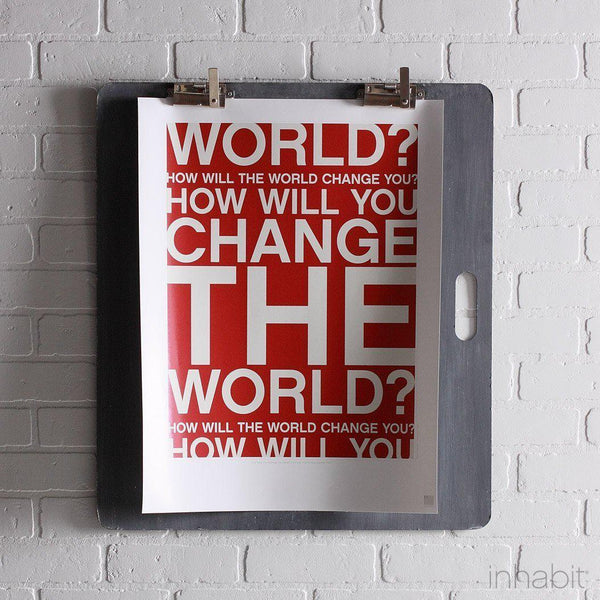 "Change the World in Scarlet Print - 18"" x24""- Art Prints - Inhabitliving.com - Inhabit - 1"
