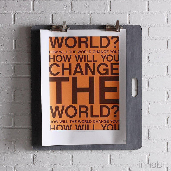 "Change the World in Sunshine Print - 18"" x24""- Art Prints - Inhabitliving.com - Inhabit - 1"