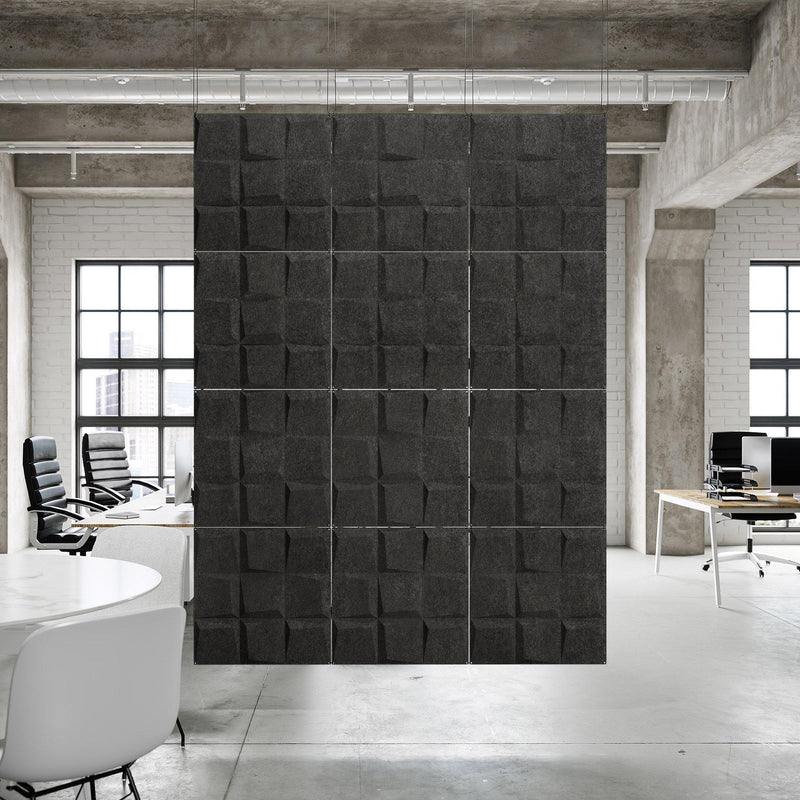 Acoustic Hanging Wall Panel | Room Divider - Cubit 3D PET Felt Hanging Wall Flat System - 5 - Inhabit