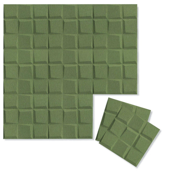 Felt 3D Wall Flats - Acoustic Panels - Cubit 3D PET Felt Wall Flats - 1 - Inhabit