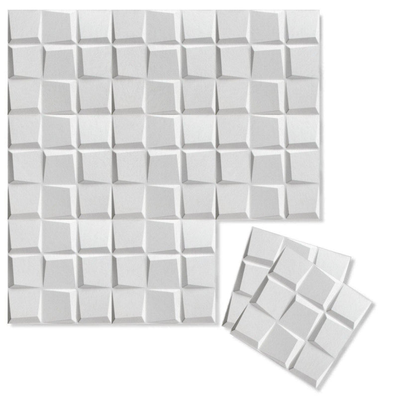 Felt 3D Wall Flats - Acoustic Panels - Cubit 3D PET Felt Wall Flats - 12 - Inhabit