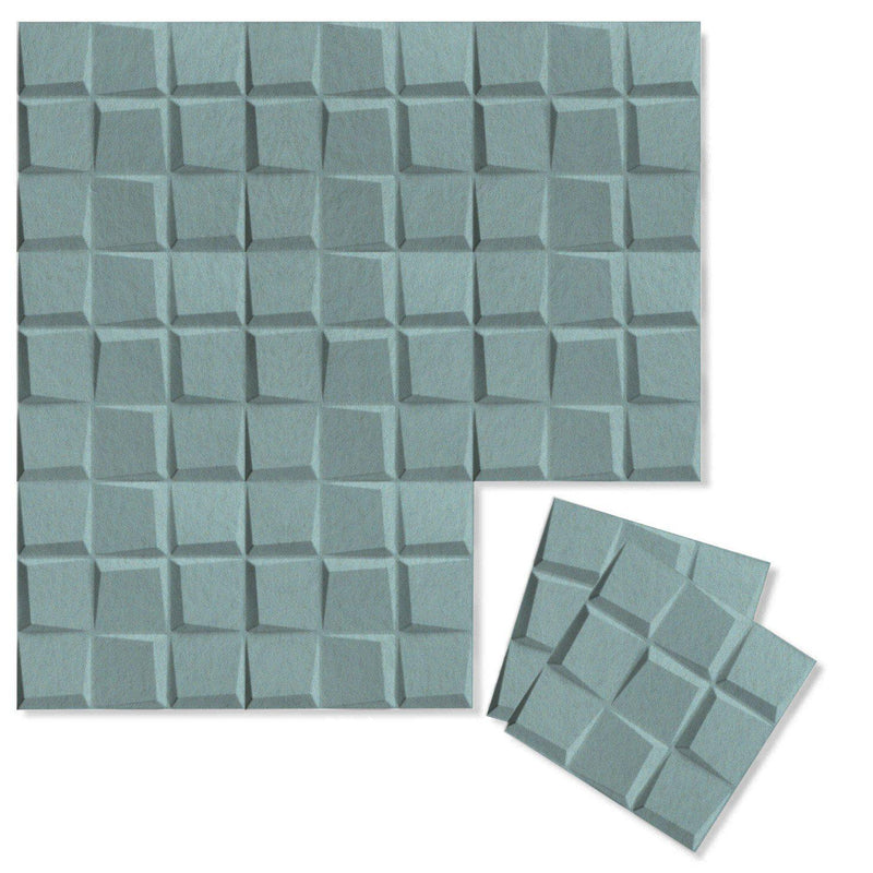 Felt 3D Wall Flats - Acoustic Panels - Cubit 3D PET Felt Wall Flats - 8 - Inhabit