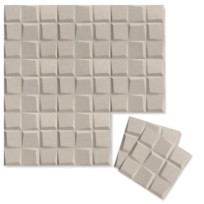 Felt 3D Wall Flats - Acoustic Panels - Cubit 3D PET Felt Wall Flats - 9 - Inhabit