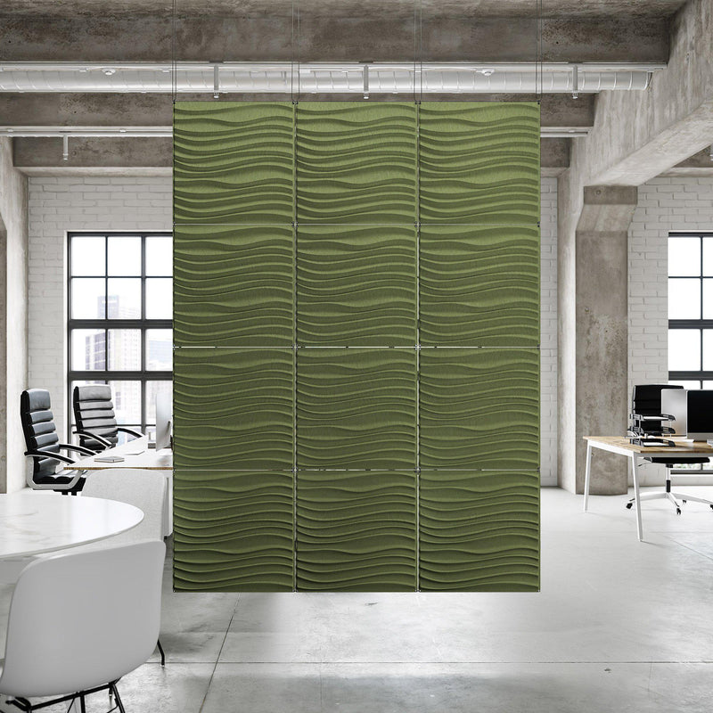 Acoustic Hanging Wall Panel | Room Divider - Current 3D PET Felt Hanging Wall Flat System - 11 - Inhabit