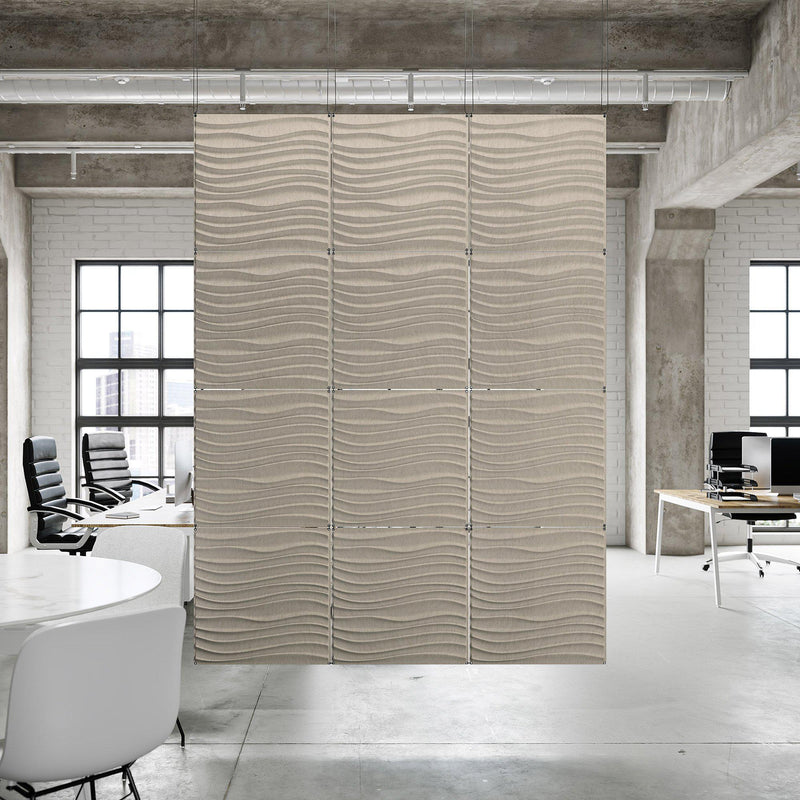 Acoustic Hanging Wall Panel | Room Divider - Current 3D PET Felt Hanging Wall Flat System - 9 - Inhabit