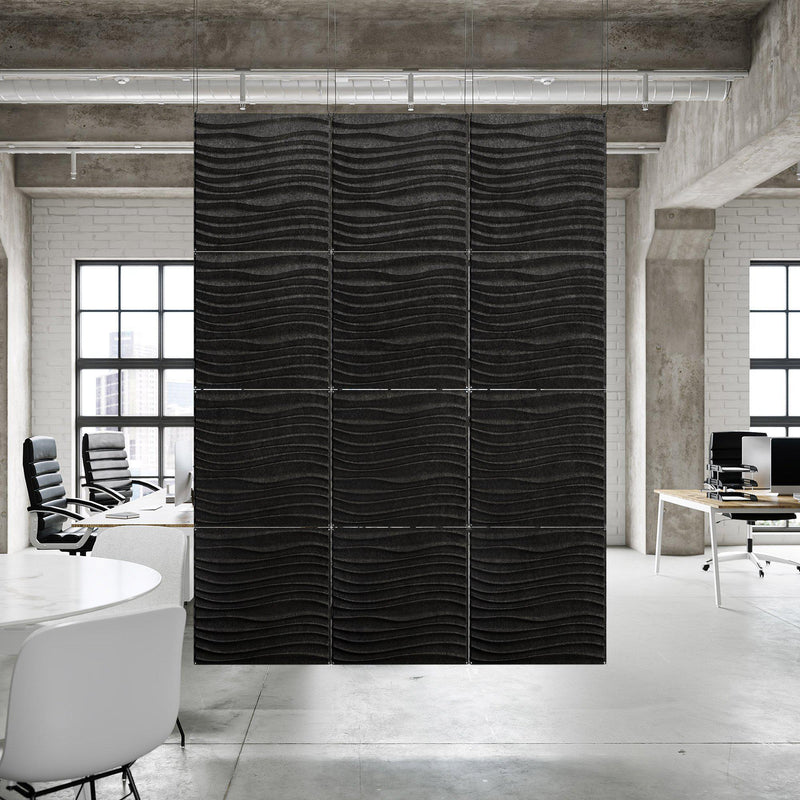 Acoustic Hanging Wall Panel | Room Divider - Current 3D PET Felt Hanging Wall Flat System - 6 - Inhabit