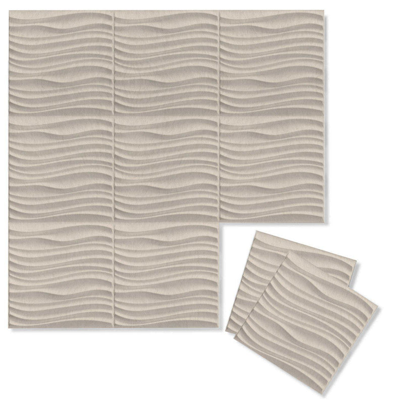 Felt 3D Wall Flats - Acoustic Panels - Current 3D PET Felt Wall Flats - 10 - Inhabit