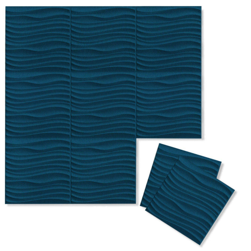 Felt 3D Wall Flats - Acoustic Panels - Current 3D PET Felt Wall Flats - 1 - Inhabit