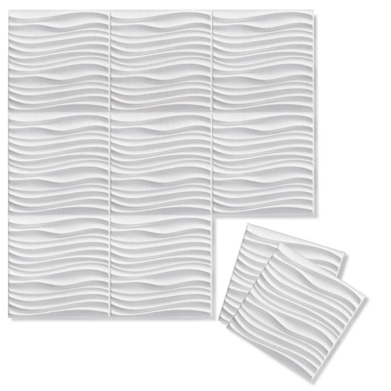 Felt 3D Wall Flats - Acoustic Panels - Current 3D PET Felt Wall Flats - 13 - Inhabit