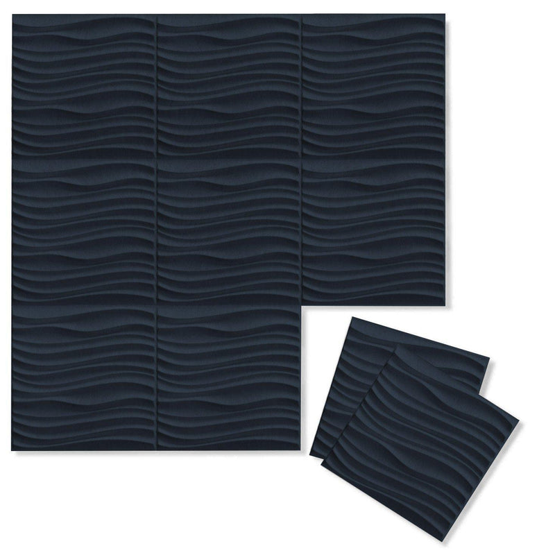Current 3D PET Felt Wall Flats - Felt 3D Wall Flats - Acoustic Panels - 12 - Inhabit
