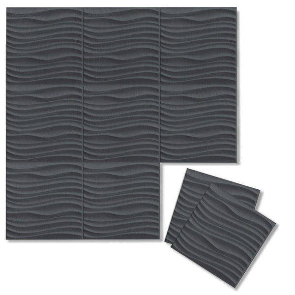 Current 3D Wool Felt Wall Flats - Felt 3D Wall Flats - Acoustic Panels - 1 - Inhabit