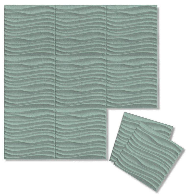 Felt 3D Wall Flats - Acoustic Panels - Current 3D Wool Felt Wall Flats - 10 - Inhabit