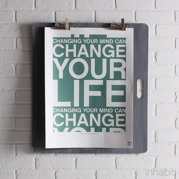 "Change Your Life in Cornflower Print - 18"" x24""- Art Prints - Inhabitliving.com - Inhabit - 1"