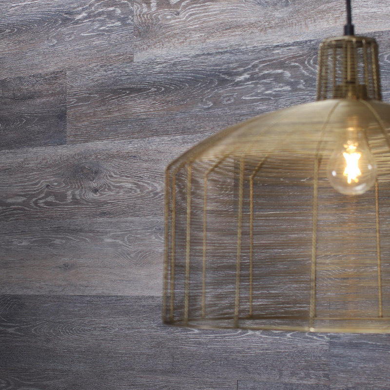 Planks - Dark Weathered Gray Oak Peel and Stick Wall Planks - 7 - Inhabit