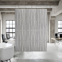 Acoustic Hanging Wall Panel | Room Divider - Drift 3D PET Felt Hanging Wall Flat System - 1 - Inhabit