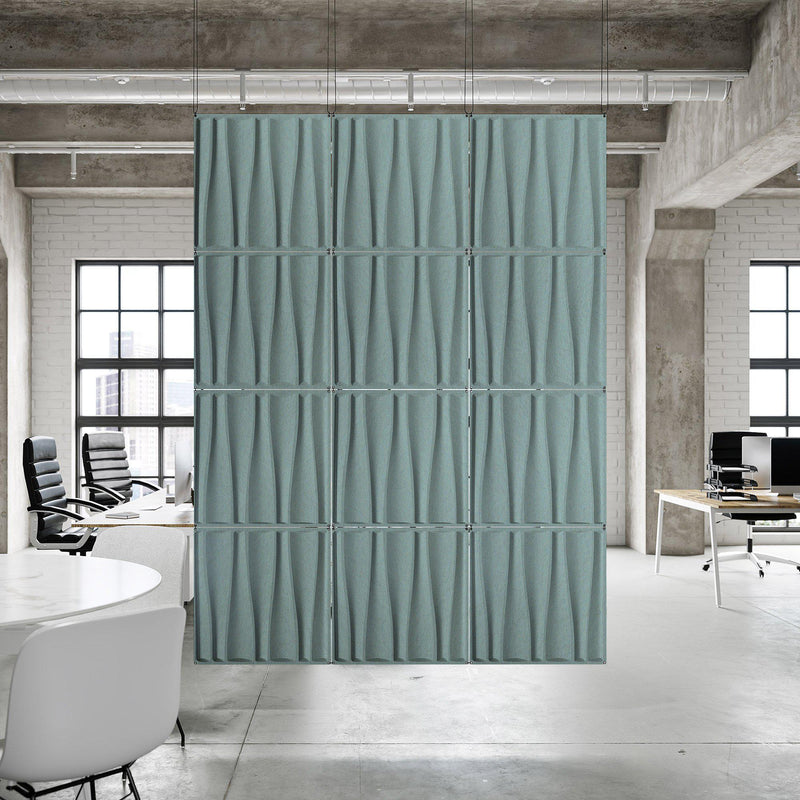 Acoustic Hanging Wall Panel | Room Divider - Drift 3D PET Felt Hanging Wall Flat System - 7 - Inhabit