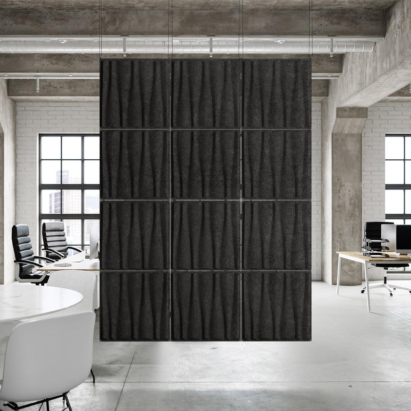 Acoustic Hanging Wall Panel | Room Divider - Drift 3D PET Felt Hanging Wall Flat System - 5 - Inhabit