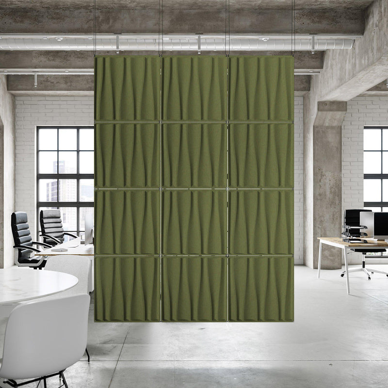 Acoustic Hanging Wall Panel | Room Divider - Drift 3D PET Felt Hanging Wall Flat System - 6 - Inhabit