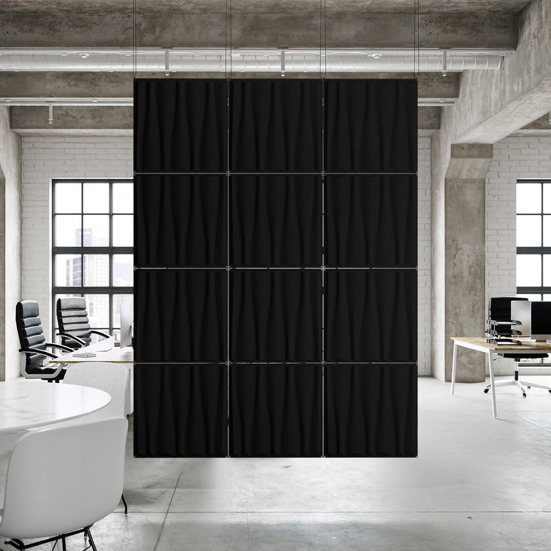 Acoustic Hanging Wall Panel | Room Divider - Drift 3D PET Felt Hanging Wall Flat System - 13 - Inhabit