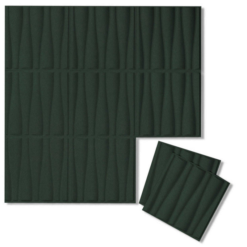 Felt 3D Wall Flats - Acoustic Panels - Drift 3D Wool Felt Wall Flats - 9 - Inhabit