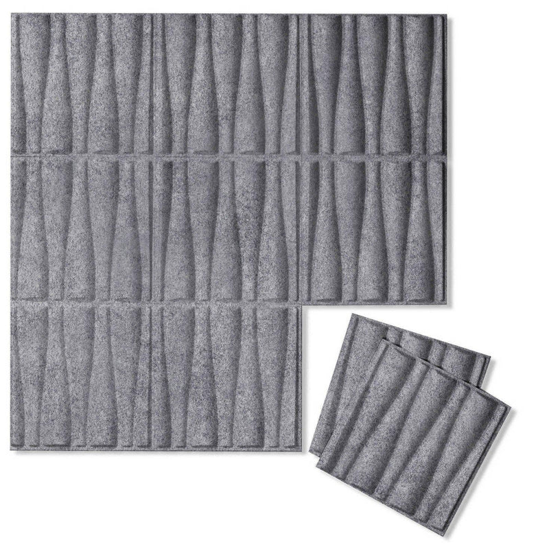 Felt 3D Wall Flats - Acoustic Panels - Drift 3D Wool Felt Wall Flats - 5 - Inhabit