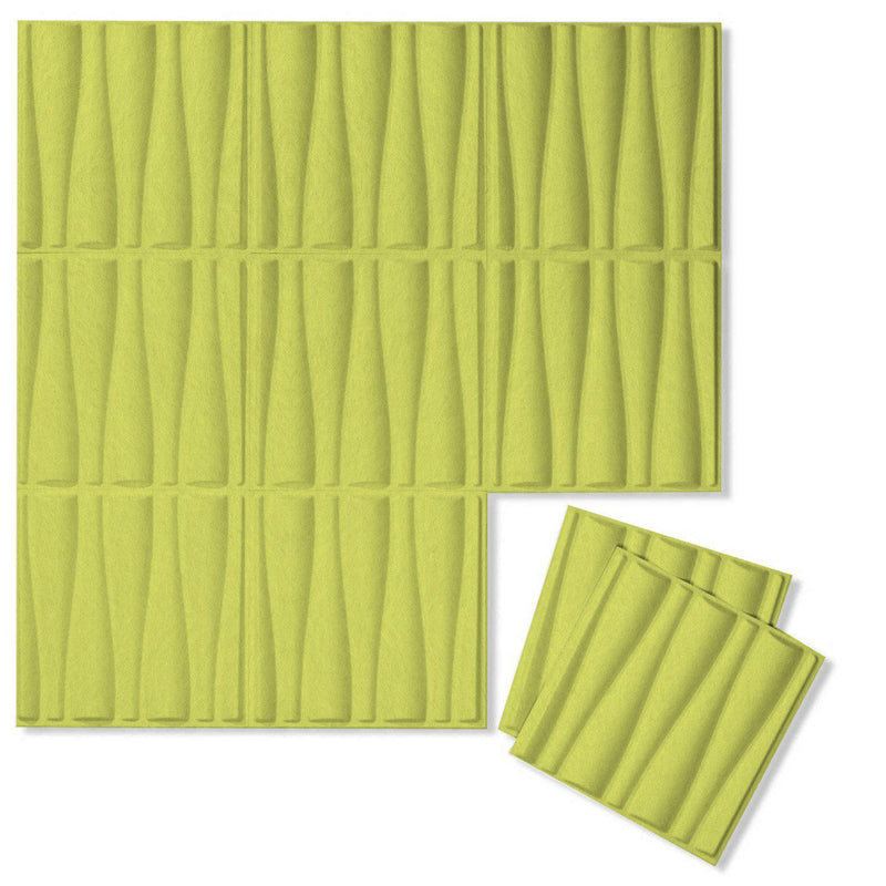 Felt 3D Wall Flats - Acoustic Panels - Drift 3D Wool Felt Wall Flats - 1 - Inhabit
