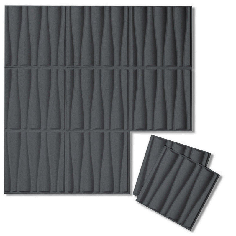 Felt 3D Wall Flats - Acoustic Panels - Drift 3D Wool Felt Wall Flats - 6 - Inhabit