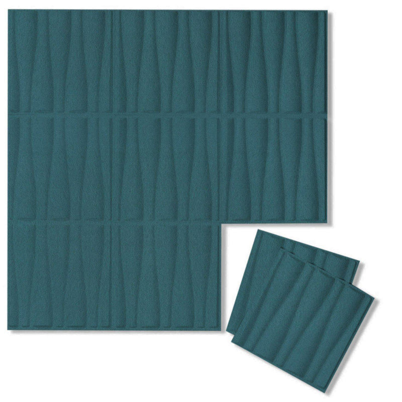 Felt 3D Wall Flats - Acoustic Panels - Drift 3D Wool Felt Wall Flats - 15 - Inhabit