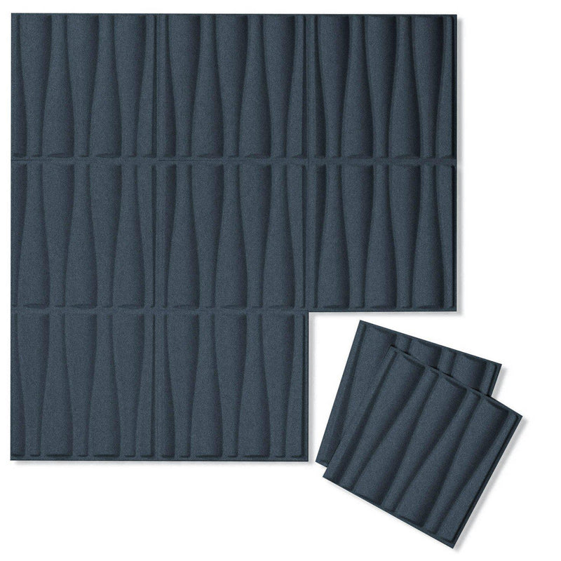 Felt 3D Wall Flats - Acoustic Panels - Drift 3D Wool Felt Wall Flats - 8 - Inhabit