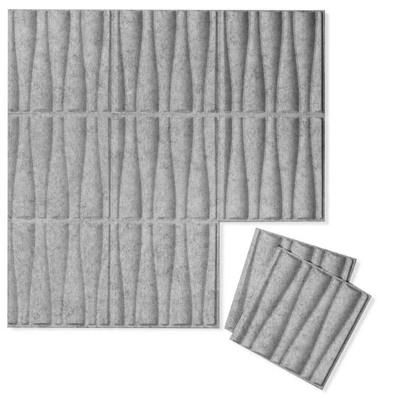 Felt 3D Wall Flats - Acoustic Panels - Drift 3D Wool Felt Wall Flats - 4 - Inhabit