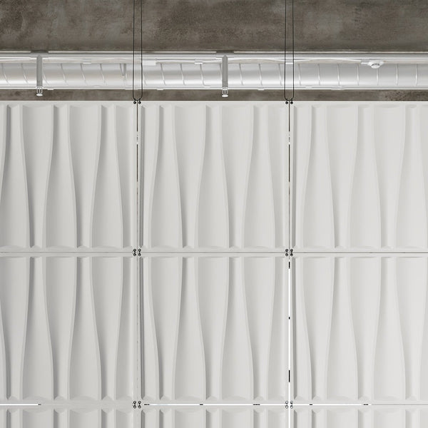 Drift Hanging Paintable Wall Flat System - 3D Wall Panels - Hanging Wall Flat Systems - 2 - Inhabit
