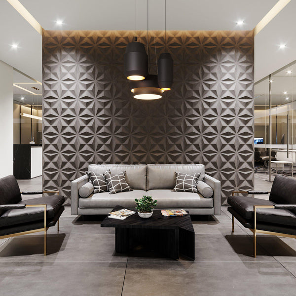 Luxe Supermatte Wall Flats - 3D Wall Panels - Facet 3D Luxe Wall Flats - 2 - Inhabit