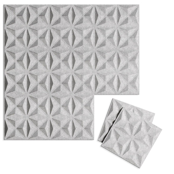 Facet 3D PET Felt Wall Flats - Felt 3D Wall Flats - Acoustic Panels - 1 - Inhabit